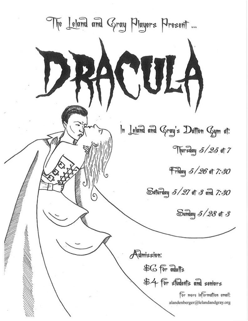 Leland and Gray Players present Mac Wellman's DRACULA